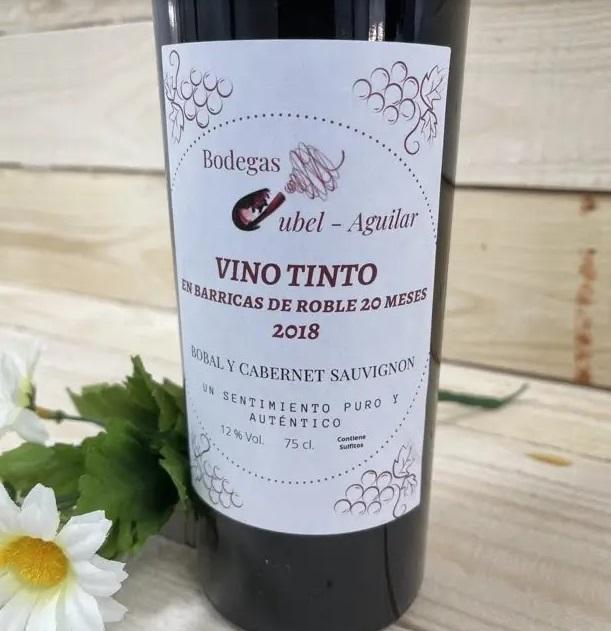etiqueta para vino tinto