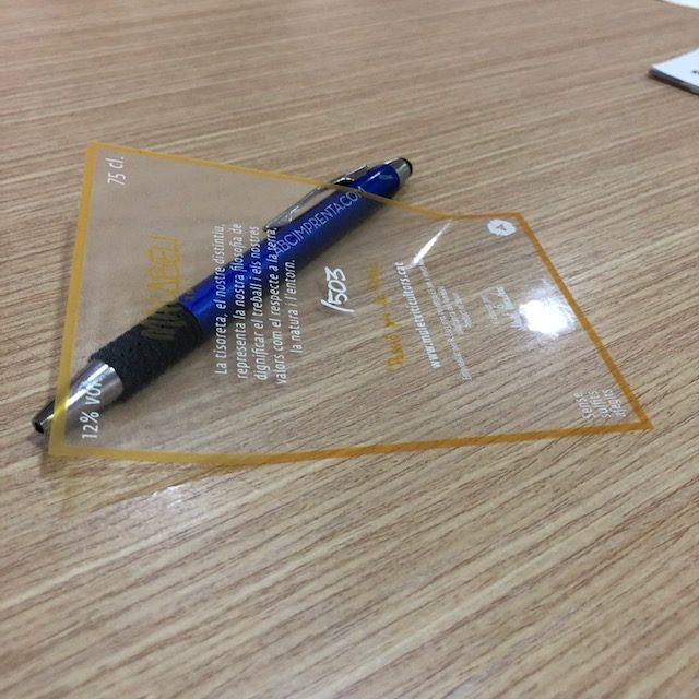 etiquetas adhesivas transparentes para frasco