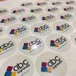 etiquetas adhesivas transparentes redondas